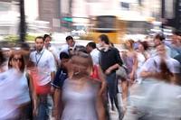 Urban city, people, Paulista Avenue, São Paulo, Brazil