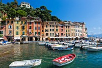 Portofino Harbour, Province of Genoa, Liguria, Italy, Europe