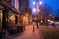 Montpellier Quarter at Dusk Harrogate North Yorkshire England