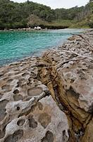 Honeymoon bay in Jervis Bay National Park Booderee, NSW, Australia