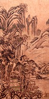 A famous painting of Jiang Guanzhong Songcui painting