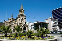 Chile. Vi&#241;a del Mar city. Sucre square and the Church nuestra Se&#241;ora de Dolores
