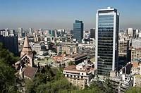 Santiago de Chile city. View of City Center