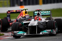 Michael Schumacher, Mark Webber, Formula One, Canadian Grand Prix, Montreal, Canada