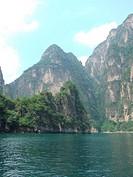 beautiful scenery in Longqing Gorge