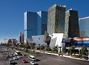 USA-Nevada-Las Vegas City-The Strip Avenue-The City Center Skyline-Crystals Hotel