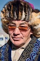 portrait of an ethnic Kazakh in Bayan-Ölgii in Western Mongolia
