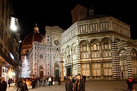 Baptistery and cathedral, Florence, Tuscany, Italy