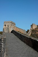 the walkway of the Great Wall
