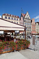 Europe, Poland, Silesia, Wroclaw, Old Town, Market Square Cafe