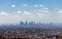 Los Angeles downtown, bird´s eye view