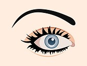 clous up eye isolated