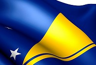 Flag of Tokelau. Close up.