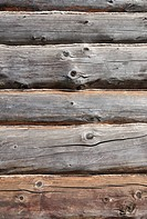 Weathered wooden logs with natural pattern grunge background