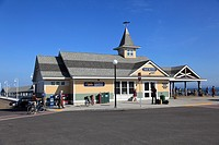 Steamship Authority pier, Oak Bluffs, Marthas Vineyard, Massachusetts, New England, USA
