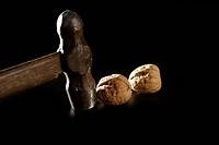 Traditional classic walnut hammer
