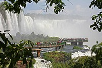 Iguazu Falls / Iguassu Falls / Iguaçu Falls on the border of Brazil and Argentina