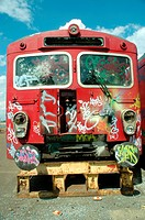 graffiti on a train
