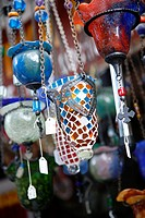 Decorated lanterns at a souvenir shop in the Old Town, Rhodes, Greece