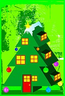 christmas tree house