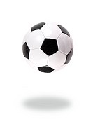 Soccer balls isolated against a white background