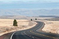 Traveling in high desert area in Oregon