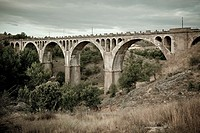 Golmayo railway bridge  Soria  Castilla y León Spain  Europe