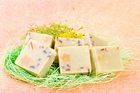 handmade Soap with little flower