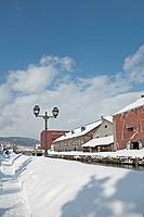 Otaru Canal in winter, Otaru city, Hokkaido, Japan