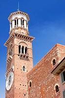 Tower Lamberti in city Verona