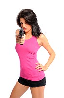 Woman and a pistol