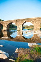 ancient bridge and reflect