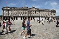 Palacio de Rajoy, Plaza del Obradoiro, Santiago de Compostela, Galicia, Spain