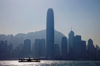 Hong Kong City Skyline and Victoria Peak.