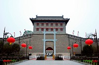 Landmark of the famous ancient city wall in Xian