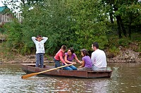 BOAT RIDE ON THE BADOULEAU LAKE, FAMILY VACATION IN NATURE AT THE HUTTOPIA CAMPSITE, ECO_TOURISM ACCOMMODATIONS MADE UP OF WOOD CABINS, HUTS AND TENTS...