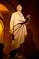 Statue of Voltaire in the Pantheon in Paris, France