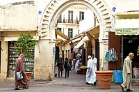 Petit Socco entrance, Tangier, Morocco, North Africa, Africa