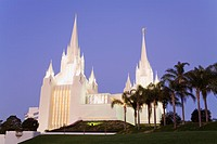 Mormon Temple in La Jolla, San Diego County, California, United States of America, North America