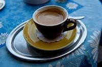 Espresso in a cafe