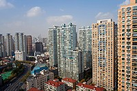 Apartment buildings in Central Shanghai, Shanghai, China, Asia