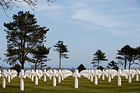 American cemetery at Omaha Beach, Colleville_sur_Mer, Normandy, France, Europe