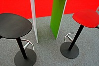 Red and black stools