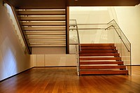 Modern Wood and Glass Interior Stairway