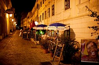 Restaurant at night, 'Boheme' at Burggasse
