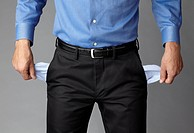 Businessman with Pockets Pulled Out