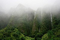 Waterfalls, Koolau Mountains, Oahu, Hawaii