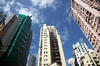 high rise hi density closely packed apartment buildings sheung wan hong kong hksar china asia