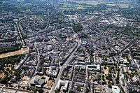 Europe, Germany, North Rhine_Westphalia, Bonn, Aerial view of city