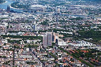 Europe, Germany, North Rhine_Westphalia, Cologne, Aerial view of city